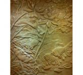 Phù điêu gốm sứ Bát Tràng Hải Long - Cá chép hoa sen