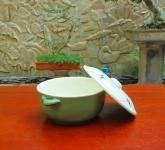 Âu cơm men xanh đồng vẽ chuồn gốm Hải Long Việt Nam