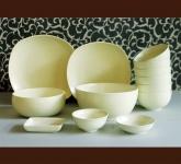 Bộ đồ ăn gia đình phong cách Châu Âu Men mát kem gốm Hải Long