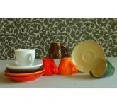 Bộ sưu tập cốc espresso dáng ý các màu gốm Hải Long Việt Nam
