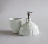 Bộ phụ kiện phòng tắm độc đáo gốm sứ Hải Long - Gốm sứ Bát Tràng