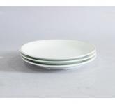 Đĩa sứ trắng 1 lá phi 20cm