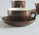 Bộ cốc chén cafe pha máy gốm sứ Bát Tràng cổ truyền