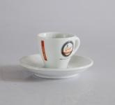 Bộ tách cafe gốm sứ Bát Tràng trắng cao cấp Urban coffee