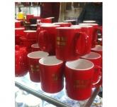 Bộ cốc tách cafe men màu đỏ tuyệt đẹp