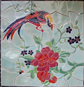 Tranh phù điêu gốm sứ Bát Tràng, SX tranh phu dieu gom su Hải Long